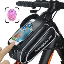 NEWBOLER водонепроницаемая сумка для велосипеда РАМКИ Передняя Глава Топ трубки Велоспорт сумка 4,7 до 6,2 дюймов сенсорный экран Велосипедный спорт телефон интимные аксессуары