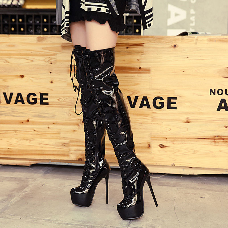 Women boots High Heels over the knee boots sexy heels Snow Long Boot Winter shoes lace up thigh high boots platform pumps LJA450 high heels over the knee long boots women sexy boots heels snow long boot winter shoes zip thigh high boots platform shoes