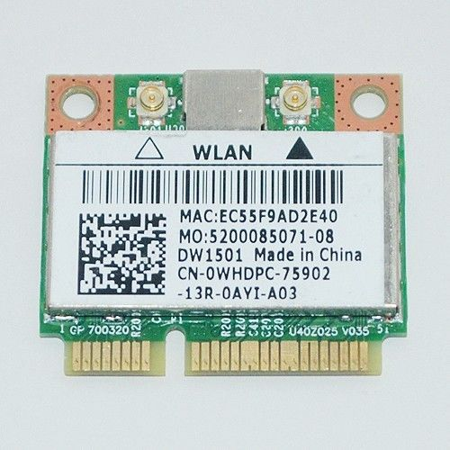 DELL DW1501 WIRELESS-N WLAN HALF-MINI CARD DESCARGAR DRIVER