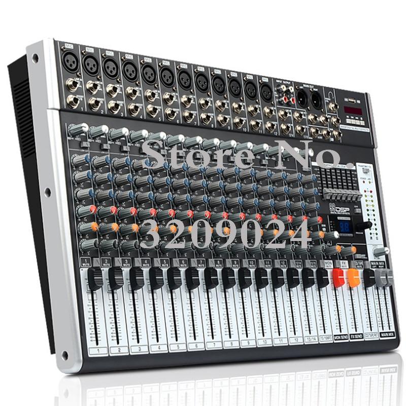 Professional 16 Channel Bluetooth USB Mixer 99 DSP Digital Effect KTV Stage Performance Device Digital Effector