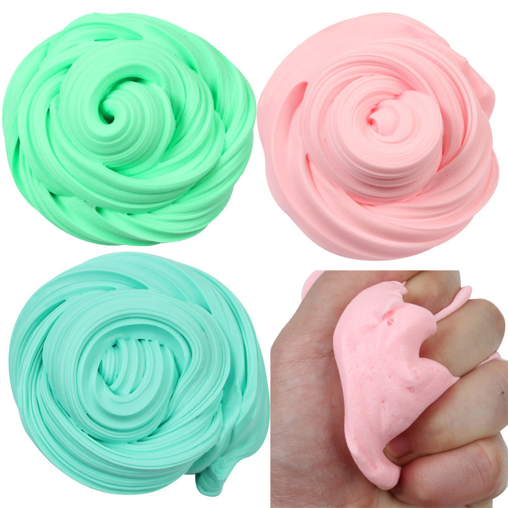 Beautiful Color Mixing Cloud Slime Squishy Putty Scented Stress Kids Clay Toy Colorful Rainbow Cloud Slime Clay Anti Stress 6.10