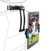 Tablet Holder Car Back Seat Headrest Mount Stand, Aluminum Alloy Long Arm Height/Angle Adjustable Tablet/Mobile Phone Car Holder