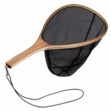 Fly Fishing Landing Net Folding Fishing Net Wood Nylon Mesh Net Super Large Folding Landing Net For Fishing pesca
