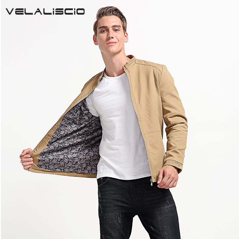 VELALISCIO Brand 2017 Autumn Jacket Mens Cotton Fashion Casual Jacket Trend Tinkling Jacket Mens Jacket Men Clothin