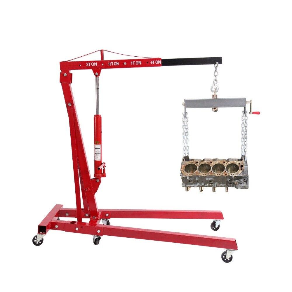 (Shipping From US ) Foldable 2T Ton 4400lb Hydraulic Engine Hoist Shop Crane Jack Lift H ...
