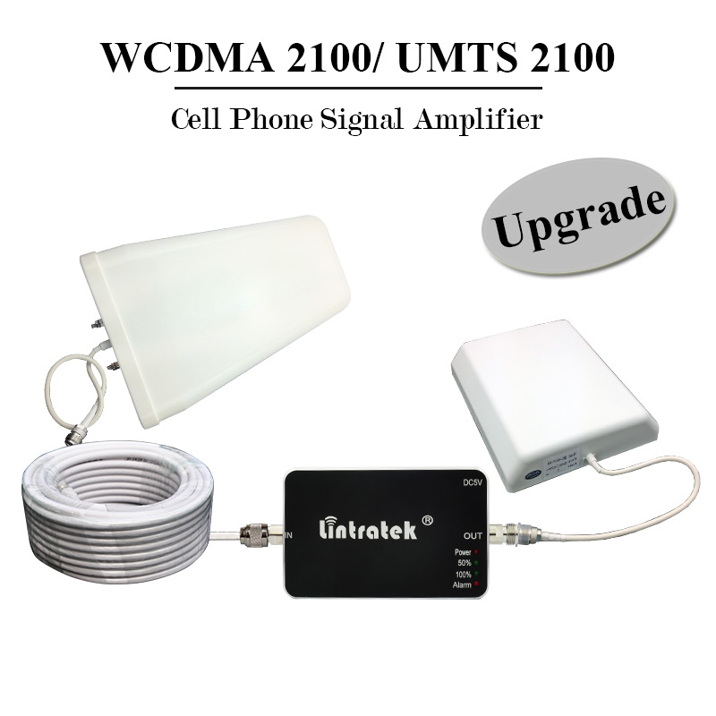 ФОТО Lintratek Upgrade 3G UMTS 2100 Signal Repeater Amplifier Mini WCDMA 2100mhz Cell Mobile Phone Signal Booster 3G Antenna Full Kit
