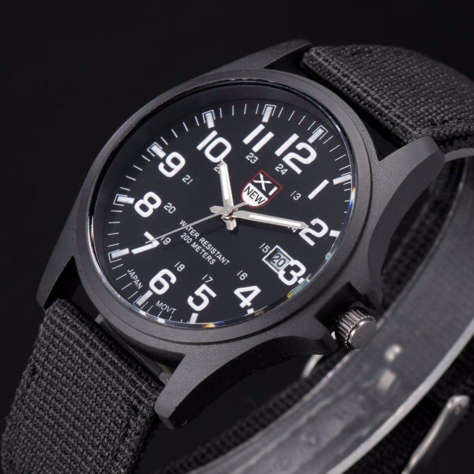 Fantastyczny xinew luksusowe boisko sportowe mężczyzna zegarka kalendarz data mens steel analogowe kwarcowy zegarek wojskowy erkek relogioi kol saat 15