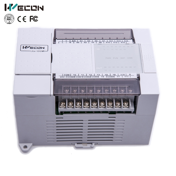 wecon LX3V-1412MR2H-D 26 points plc smart controller for automatic cutter wecon 20 points micro controller for uk plc market lx3vp 1208mr d