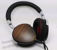 M002 Rosewood Solid Wood Headset Headphone Wood M002 HIFI Headset Wired with Collection Bag