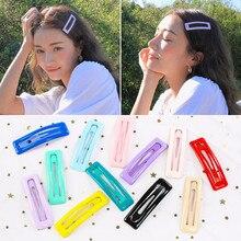 Square Snap Hair Clips for Hair Clip Pins Glitter Hairpins Cute Color Metal Barrettes for Baby Children Girls Accessories мыльница wasserkraft wern k 2529 хром матовое стекло