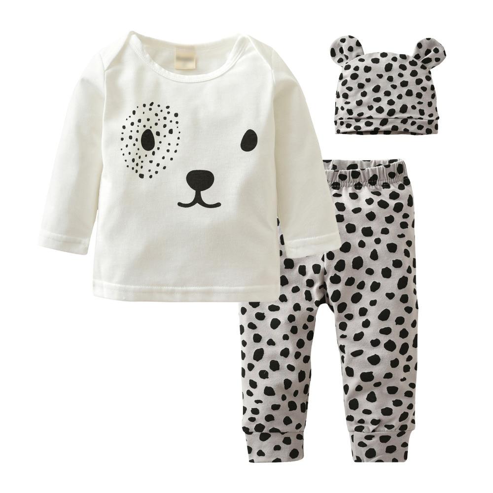 2017 New Style Baby Clothing Set Long Sleeve Cartoon