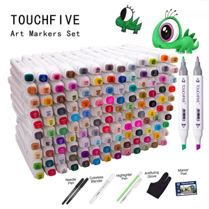 Image 2 - TOUCHFIVE 48/60/80/168 Colors Dual Handle Sketch Markers Professional Art Marker For Manga Comic Design Drawing Art Pen Support