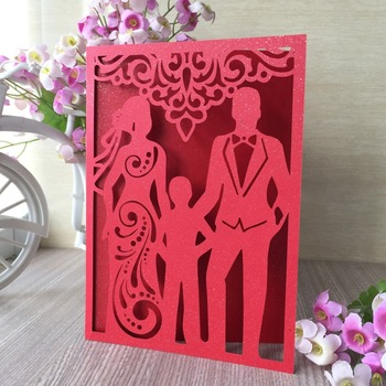 100pcs/lot New Design Wedding & Engagement Invitations Card Wedding Party Favor Anniversary Celebration Greeting Card