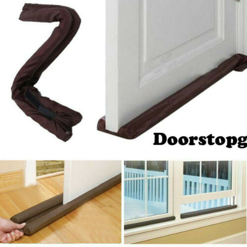 Twin Door Draft Dodger Guard Stopper Energy Saving