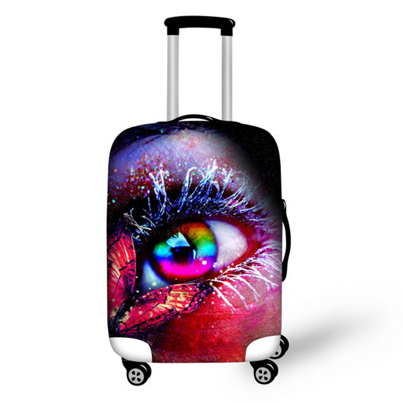 NOISYDESIGNS Travel Accessories Supplies For 18-30 Inch Waterproof Luggage Suitcase Cartoon Trolley Elastic Protective Cover
