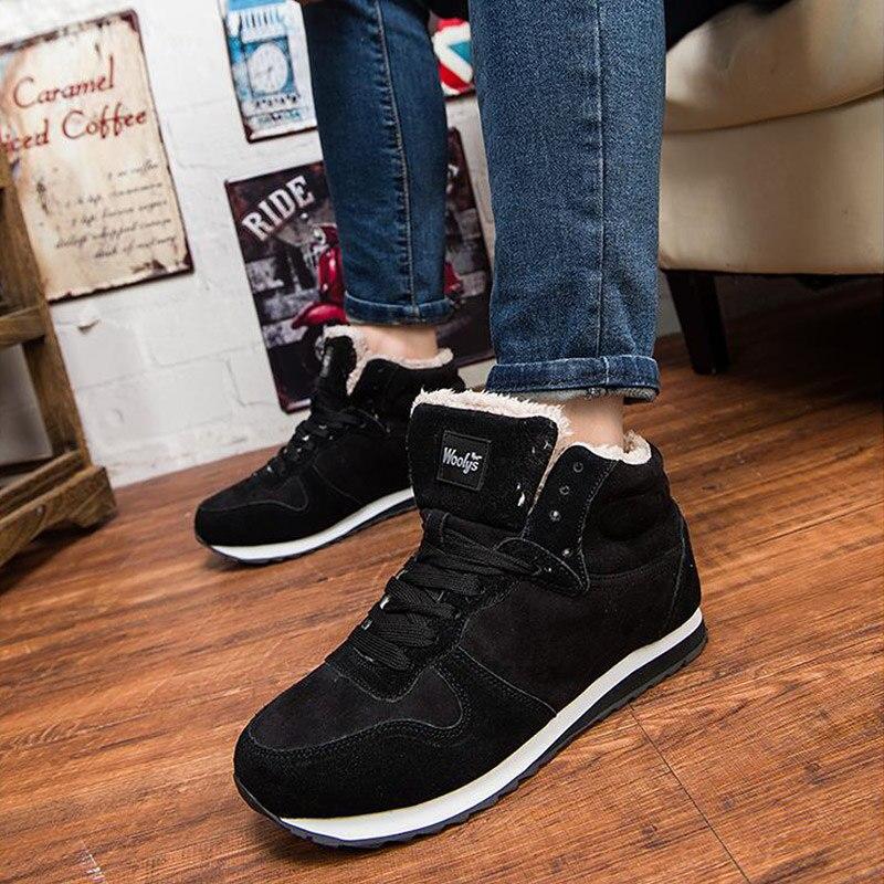 8a4550e44313f41 Для мужчин ботильоны мужская зимняя обувь модные зимние ботинки теплые  Кружево на шнуровке Обувь на меху Большие размеры 46 45 | Снегоступы с  Алиэкспресс ...