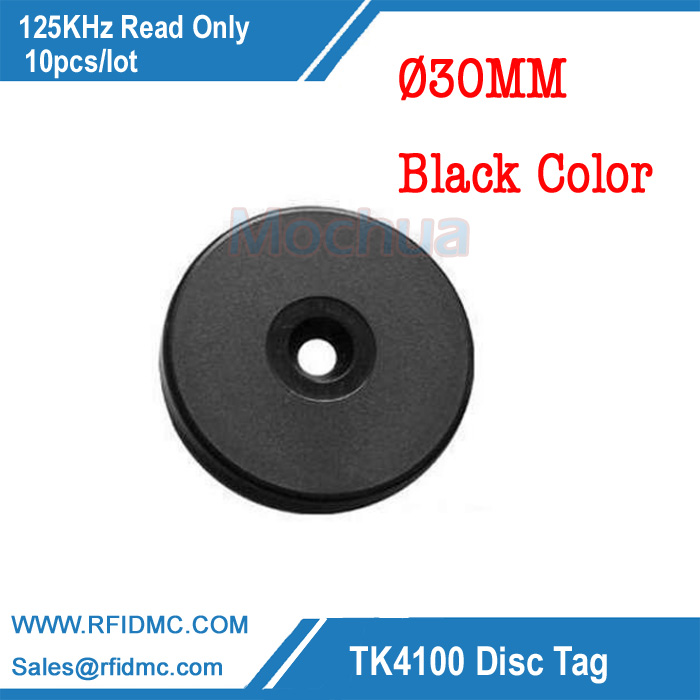 125Khz Rfid Tag EM4100 Disc Tag for Patrol system black checkpoint-10pcs/lot 10pcs sample 125khz rfid abs waterproof patrol button id patrol point