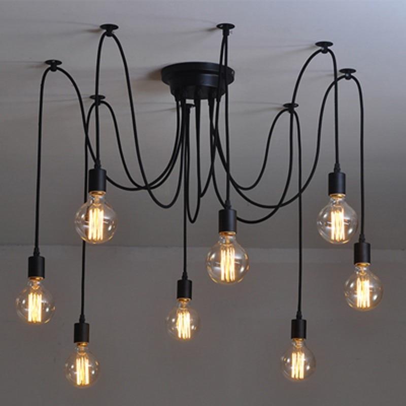 lamp mechanical american spider loft lights lighting from industrial chandeliers in chandelier vintage style luminaire ceilng fixtures arm black item pendant