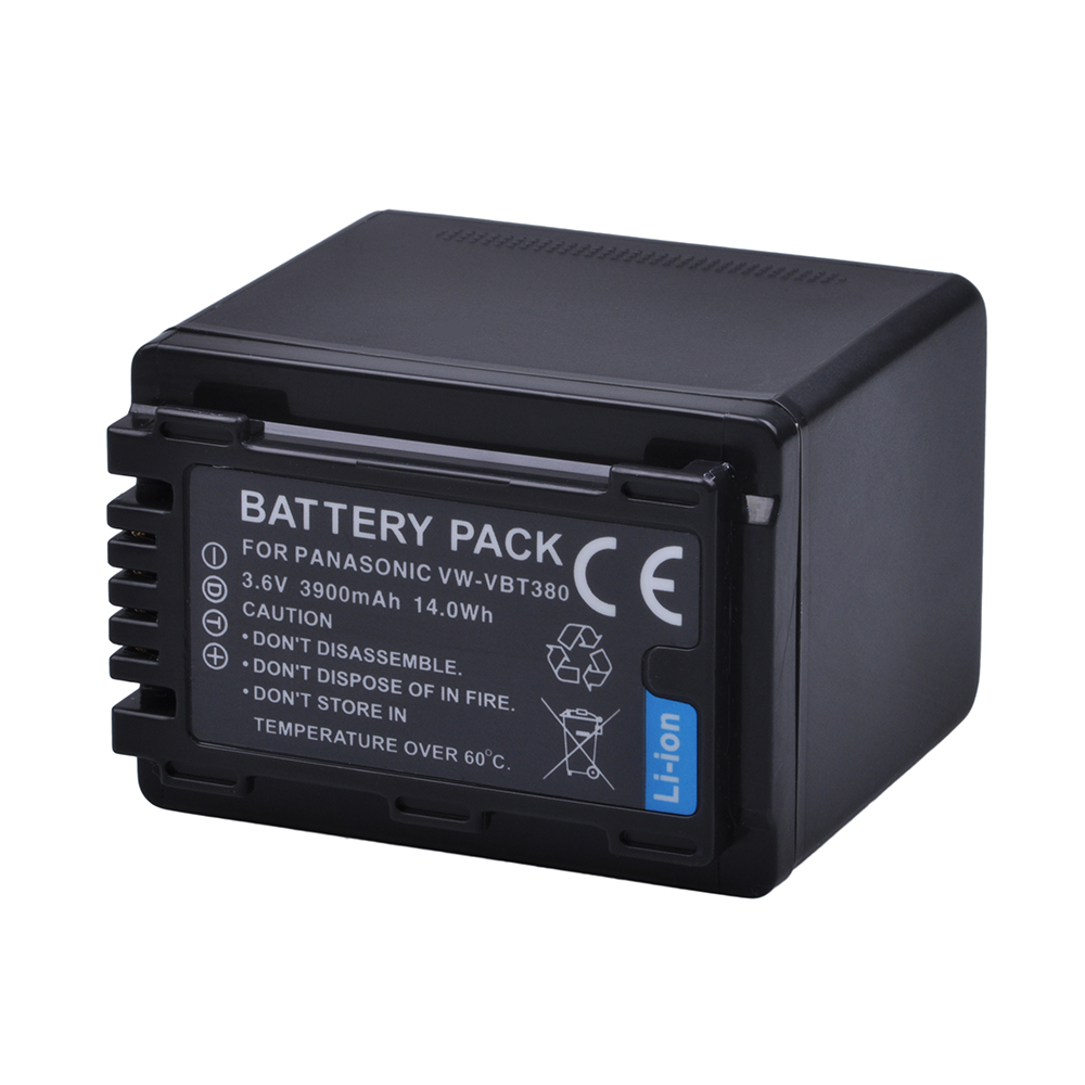 1Pc 3900mAh VW-VBT380 VBT380 VW-VBT190 VBT190 Battery for Panasonic HC-V110, HC-V130, HC-V160, HC-V180, HC-V201, HC-V250,HC-V260 hc 1512