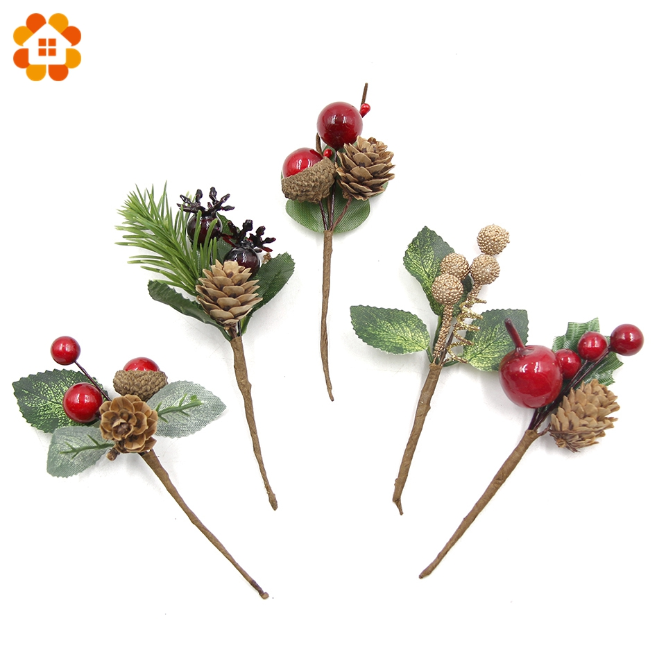 DIY Wreath Crafts-Accessories Stamens Party-Decorations Christmas-Flowers Artificial-Berries