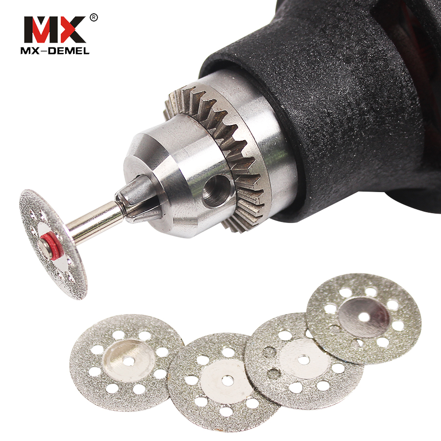 MX-DEMEL 5 + 1 Rotary Tools Accessory Fits For Dremel Craftsman Diamond Cut Disc Disc Dremel Style Rotary Tool Power Tools mx demel high quality 17pcs 1 2 felt polishing wheels dremel accessories fits for dremel rotary tools dremel tools small