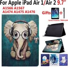 Чехол с мультяшным животным для apple ipad air 1/2 5/6 97 дюймов