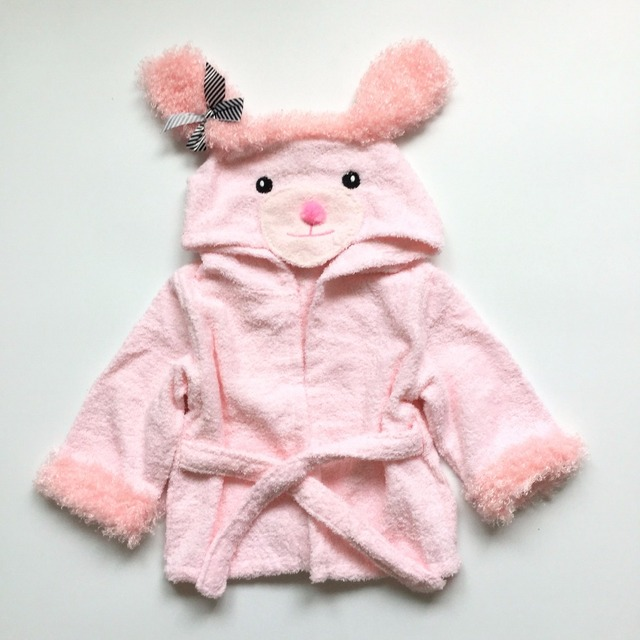 2016 Children's Bathrobes Cartoon Rabbit Lion Kids Bath robe Sleep Wear Boys Gils Bath robe in stock real photo
