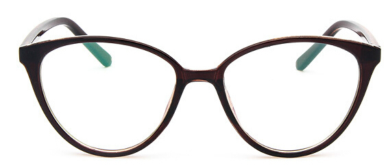 LV DING Cat Eye Frame Clear Lens Glasses