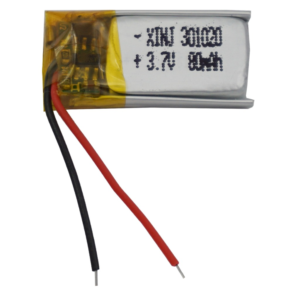 3.7 V 80 Mah Lithium Polymeer Li-po Batterij Li Ion Cell 301020 Voor Mp3 Hoofdtelefoon Bluetooth 3d Bril Record Pen Speaker Horloge