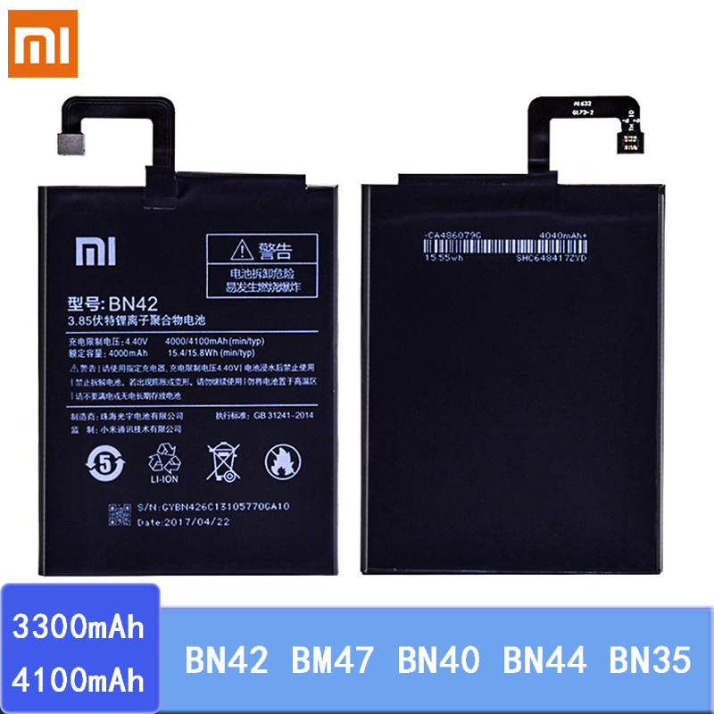 Battery BN42 BM47 BN40 BN44 BN35 For Xiaomi Redmi 4 4Pro 3 3S 3X 4X 5 5 Plus