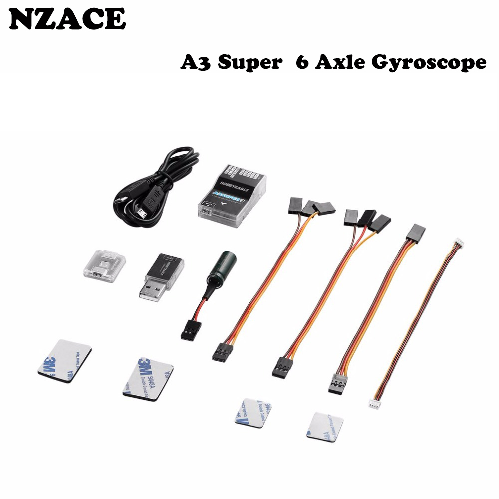 A3 Super/Pro 3 Standard Fixed Wing 6 Axle Gyroscope Flight Controller Stabilizer 32-bit MCU 6-axle MEMS Sensor for R/C Airplanes axle cam swaybar holder set pro 3 hpi a405