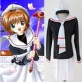 Trajes de Cosplay de Anime Card Captor Sakura Kinomoto Sakura Envío Libre (Top + Falda + Corbata + Hat)