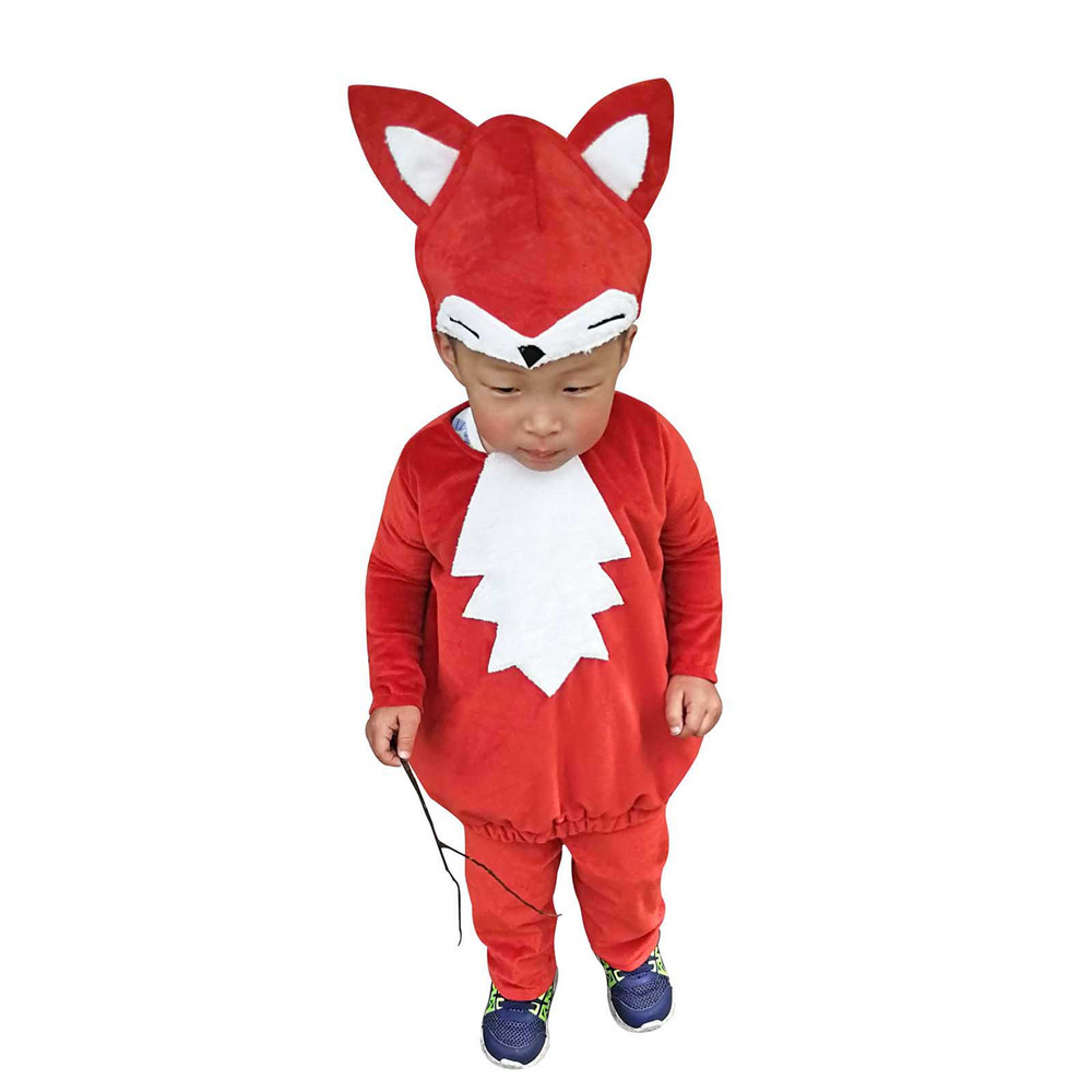 Child Little Fox Costume Kids Animal Dress Up Woodland Red Fox Cosplay Halloween Fancy Dress for Toddlers Carnival Cosplay