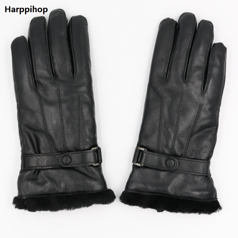 Genuine Leather Sheepskin Gloves For Women Sheepskin Fur Australia Woolen Gloves Ladies Mittens Female Waterproof Gloves
