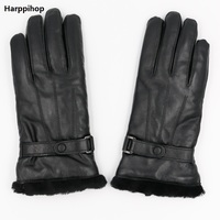 Genuine Leather Sheepskin Gloves For Women Sheepskin Fur Australia Woolen Gloves Ladies Mittens Female Waterproof