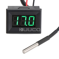 DC 12V 24V Green Led Digital Thermometer 55 125 Celsius Degrees Temperature Meter For Car Water