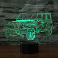 Car Gifts Night Lights For Kids Birthday Gifts SUV 3d Illusion Lamp Optical Desk Table Touch