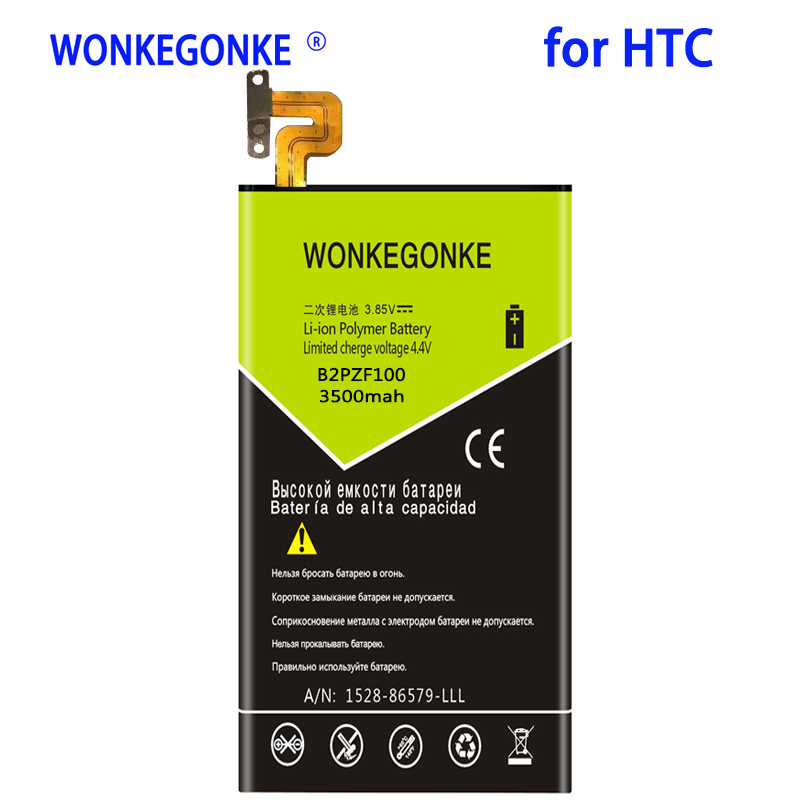 WONKEGONKE 3500mah B2PZF100 Battery For HTC Ocean Note U-1w U Ultra Batteries Bateria