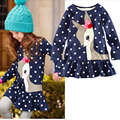 Princess Baby Girl Dresses Toddler Kids Dresses Long Sleeve Girl Dress One-piece Deer Cotton Party Dress For 1-6Y