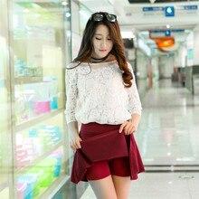 ALSOTO Summer style sexy Skirt for Girl Korean Skirts Womens Faldas Anti emptied saia lady Skater pleated mini Skirt tutu