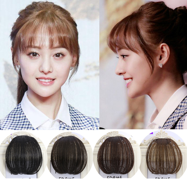 Fashion 1 clip in bangs women hair extension hairpieces front neat fashion 1 clip in bangs women hair extension hairpieces front neat fringe hair extensions invisible false pmusecretfo Image collections