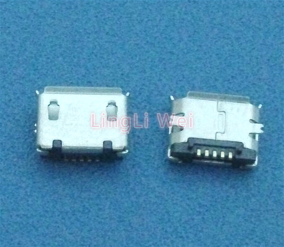 10pcs <font><b>Micro</b></font> <font><b>USB</b></font> Type B Female 5Pin SMT Socket SMD Jack <font><b>Connector</b></font> Port <font><b>PCB</b></font> Board Charging (most popular <font><b>connector</b></font>) image