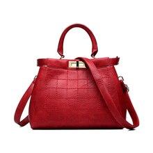 Hot Fashion Lady Plaid Pattern PU Leather Handbag Tide Mature Women Shoulder Bag Trendy Shopping Crossbody Pouch High Quality
