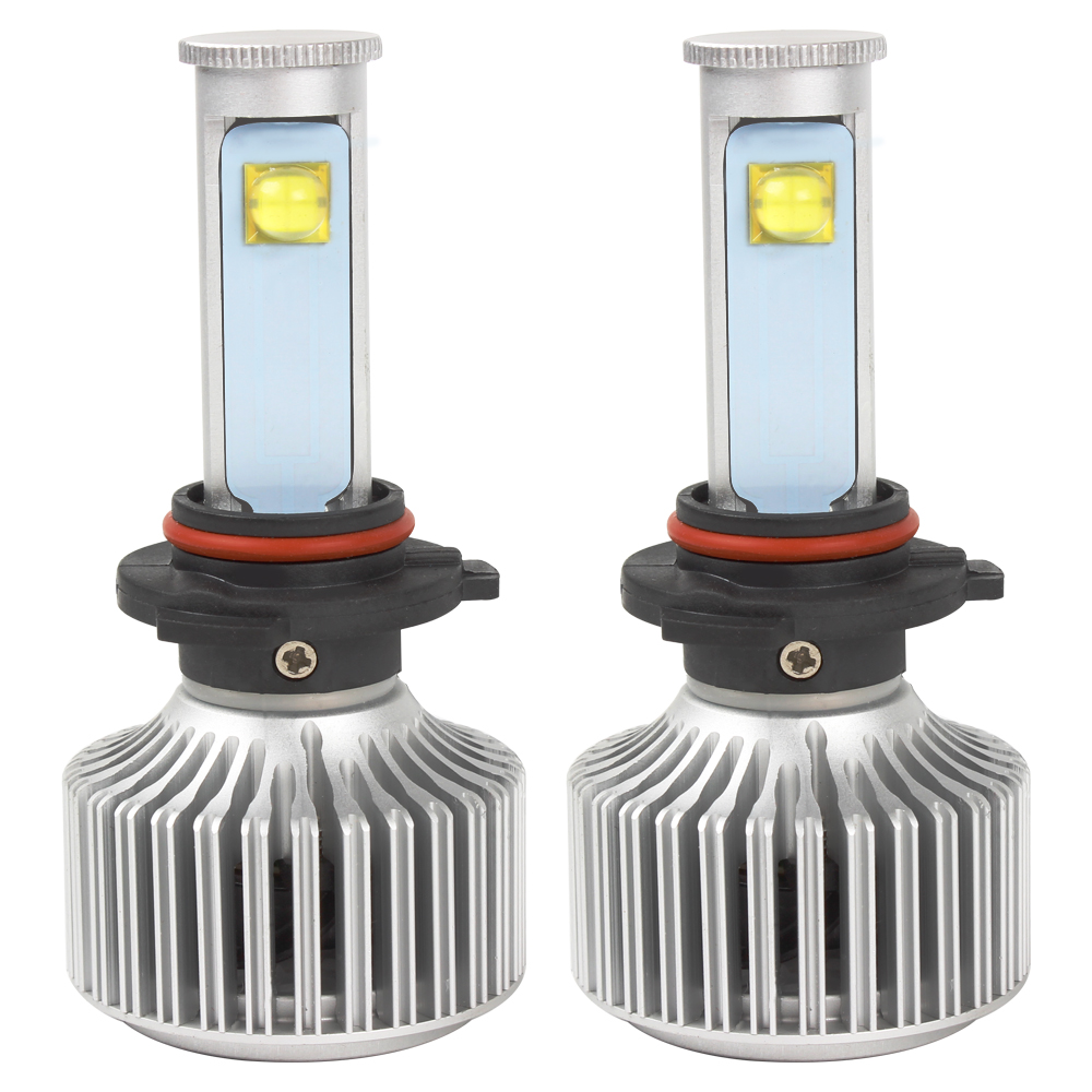 2pcs 9006 LED Car Headlight Car Styling Version of X7 Super Bright 6000K 3600LM All-in-one LED Automobiles Headlamp Light Source 2pcs x7 led car headlights led 80w 7200lm 880 super bright cree led ledheadlight all in one conversion kit 6000k pure white
