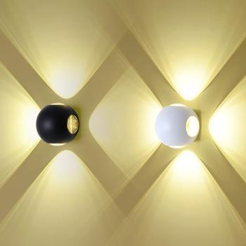 4W/12W LED Wall Fixture Light Outdoor Star Lamp Aluminum Iron Garden Lighting Waterproof Balcony Black/White shell