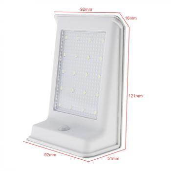 Resistente Al Agua 20 LED De Energía Solar De Seguridad Al Aire Libre Lámpara PIR Sensor De Movimiento