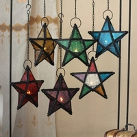 European Style Colored Stars Candle Holder Morocco Lamp Candle Holder Home Decoration Wedding Bar Supplies