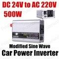Автомобильный модифицированный синусоидальный трансформатор напряжения 500 Вт Грузовик Лодка USB DC 24V к AC 220V преобразователь питания зарядно...