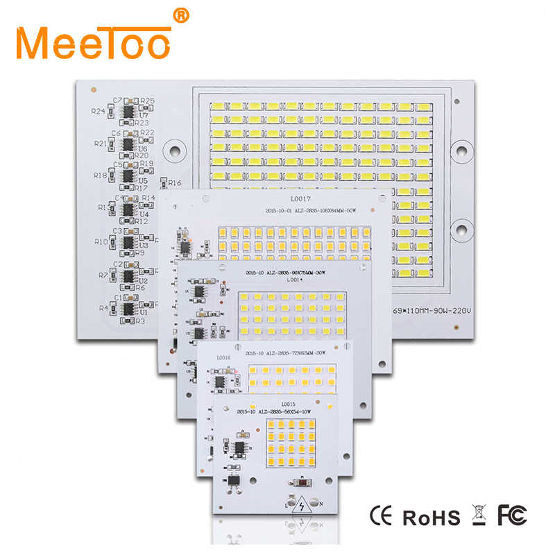 New Smart IC Floodlight COB Chip SMD 2835 5730 Led Bulb Lamp 10W 20W 30W 50W 90W Outdoor Long Service Time DIY Lighting In 220V