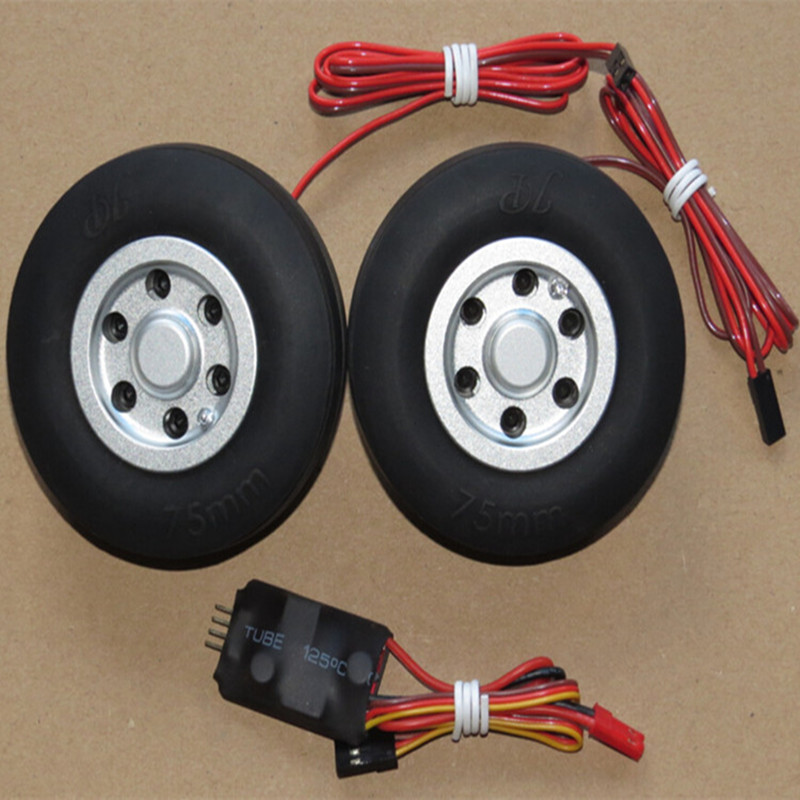 RC model 70mm 75mm JP brake wheel for fixed-wing aircraft landing gear image